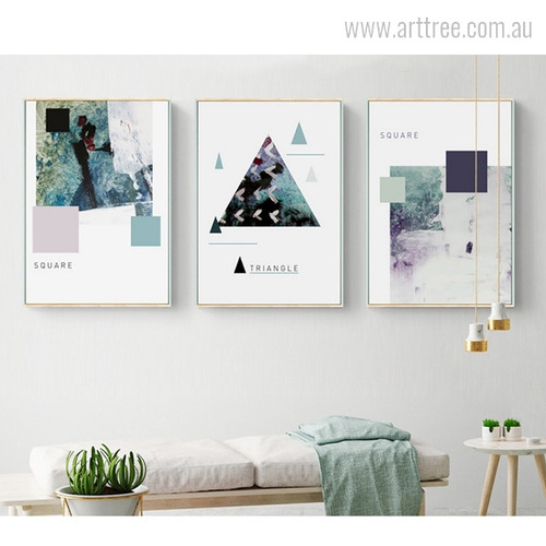 Abstract Geometric Shapes Triangle & Squares Art Design