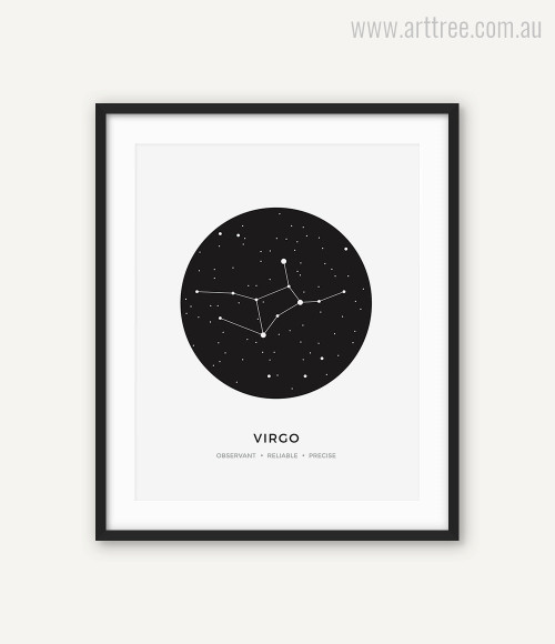 Virgo Zodiacal Constellation Reliable, Precise, Observant Print