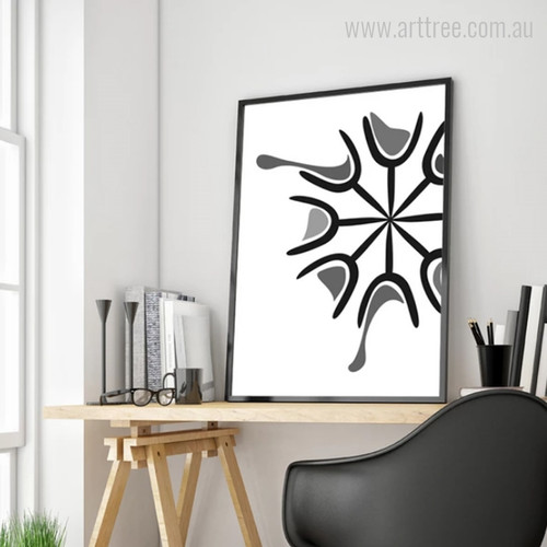 Abstract Black & Grey Wine Glasses Digital Wall Art