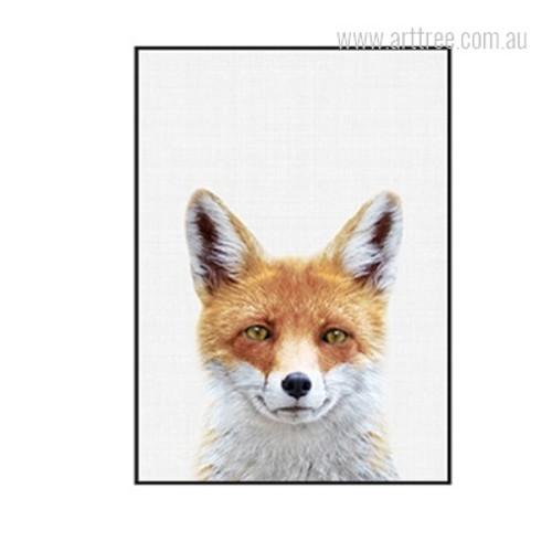 Kawaii Fox Animal Cute Art for Feature Wall