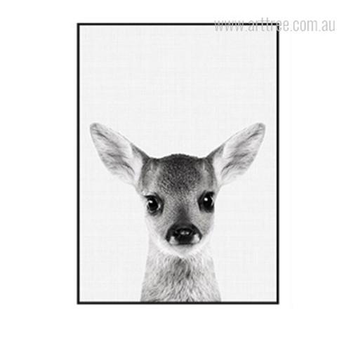 Kawaii Grey Fawn Animal Cute Wall Decoration Print