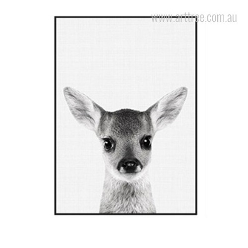 Kawaii Grey Fawn Animal Cute Wall Decoration Print