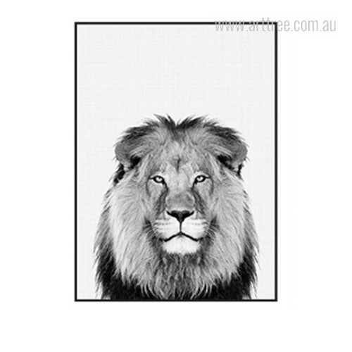 Kawaii Lion Animal Cute Photo Canvas Print