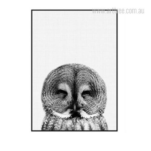 Kawaii Bird of Night Owl Print