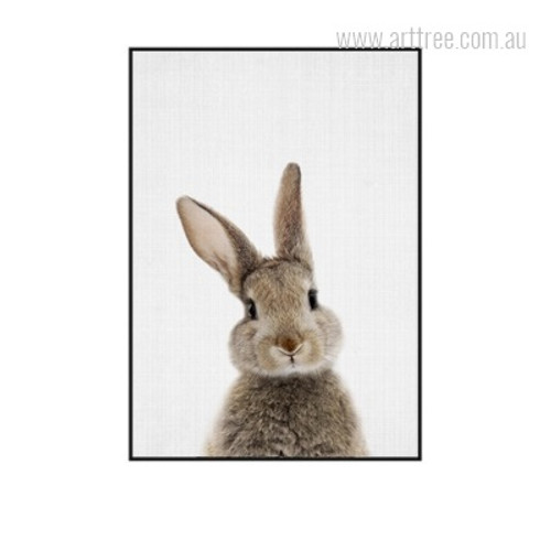 Kawaii Rabbit Animal Cute Digital Canvas Print