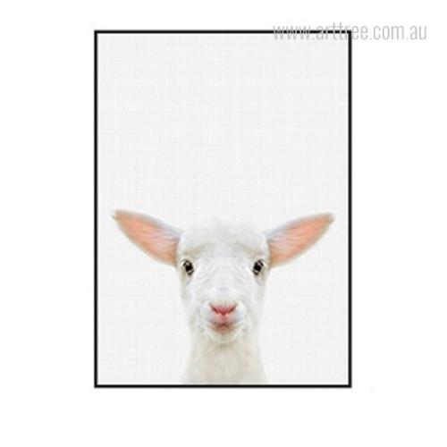 Kawaii Sheep Animal Cute Photo Canvas