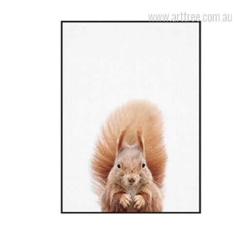 Kawaii Squirrel Animal Cute Digital Painting Print