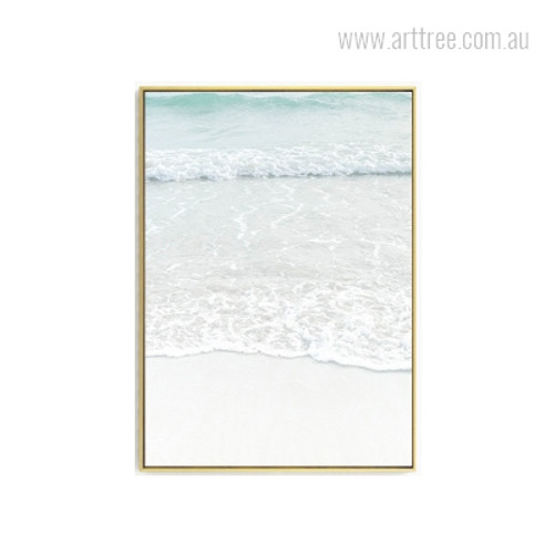 Beach Water Waves Photo Canvas