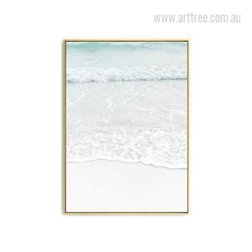 Beach Water Waves Photo Canvas