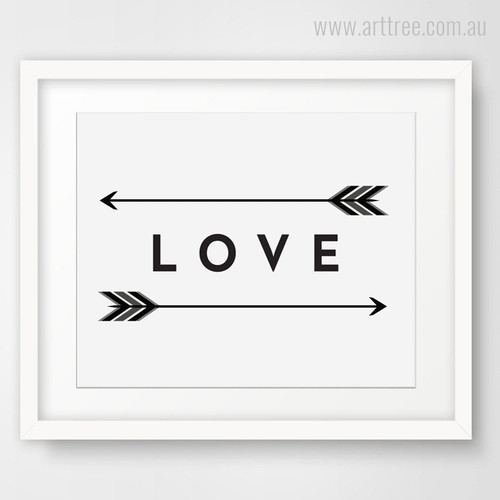 Love Arrows Wall Art Decor