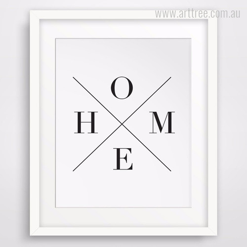 Minimal Cross Home Alphabets Digital Wall Print