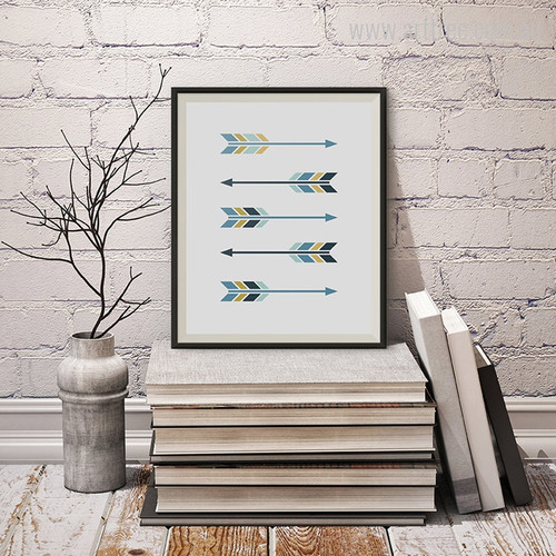 New Blue Five Arrows Digital Art Print