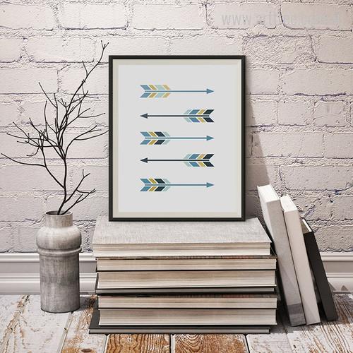 New Blue Five Arrows Digital Art Print