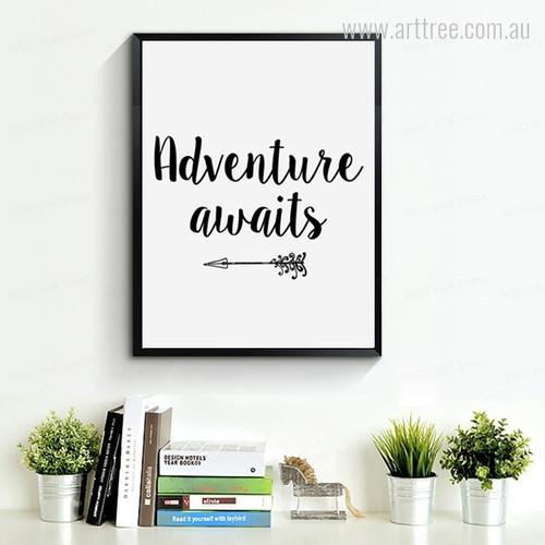 Arrow Adventure Awaits Wall Decor Print