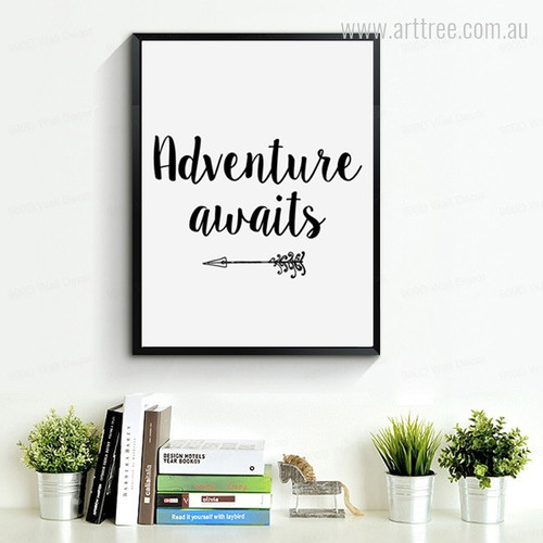 Arrow Adventure Awaits Wall Decor Print