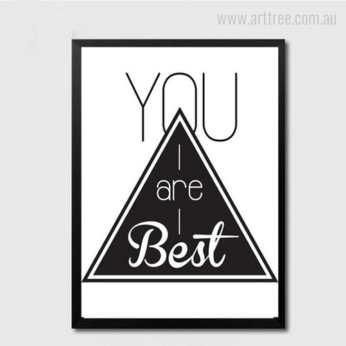You are Best Black and White Words Triangle Digital Art