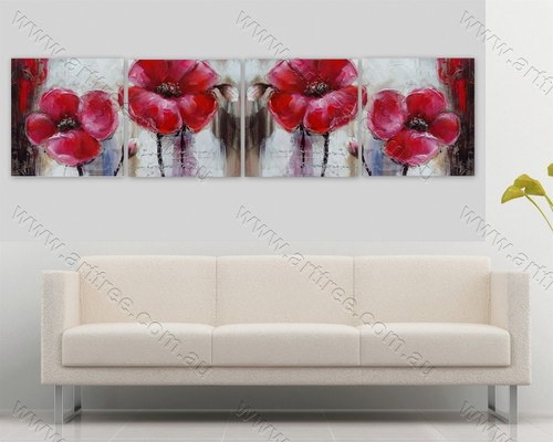 4 Panel Group Canvas Art