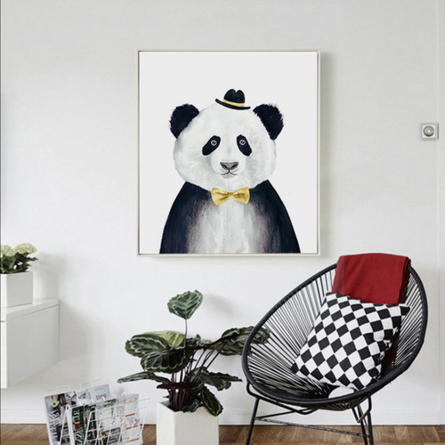 Giant Panda Animal Nordic Scandinavian Digital Print