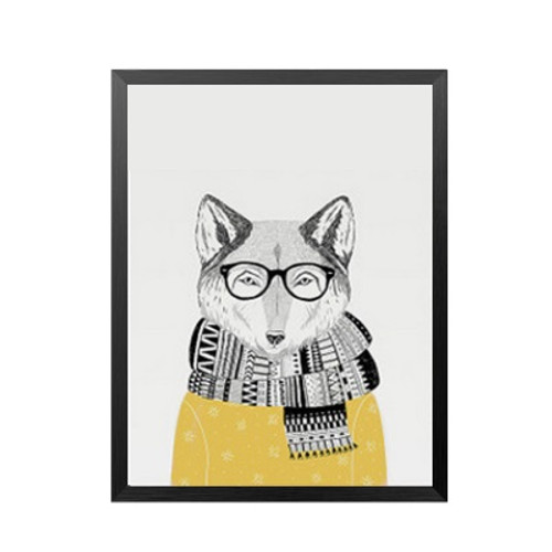 Fox Animal Nordic Wall Hanging Print