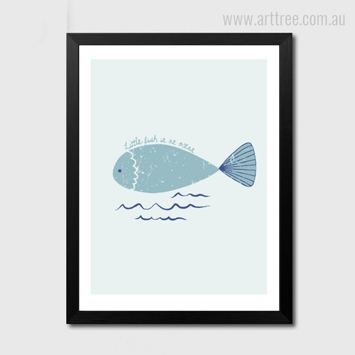 Little Fish in an Ocean Wall Decor Print