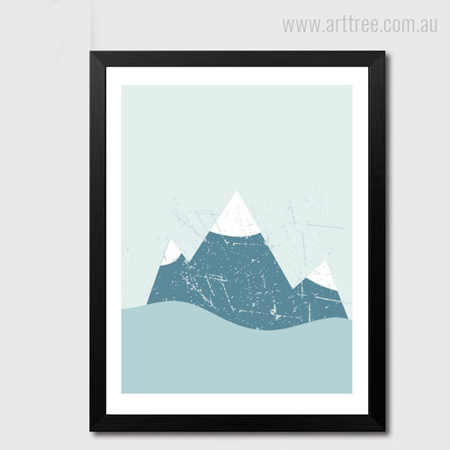 Snowy Mountain Photo Canvas Print