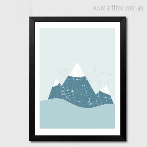 Snowy Mountain Photo Canvas Print