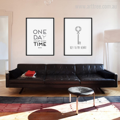 One Day at a Time, Key to My Heart Quote Art Set