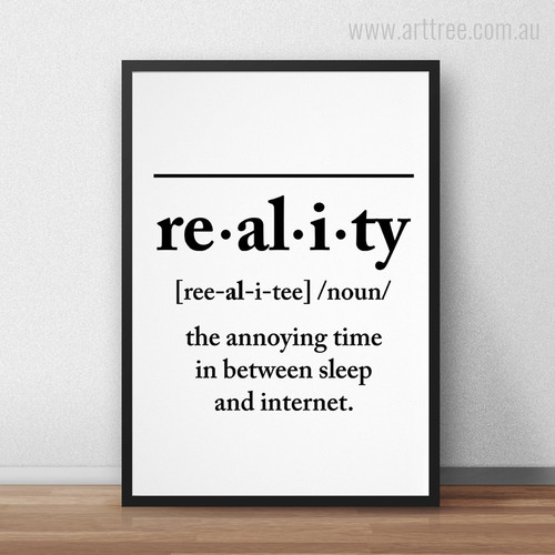 The Annoying Time in Between Sleep and Internet Words Canvas Print