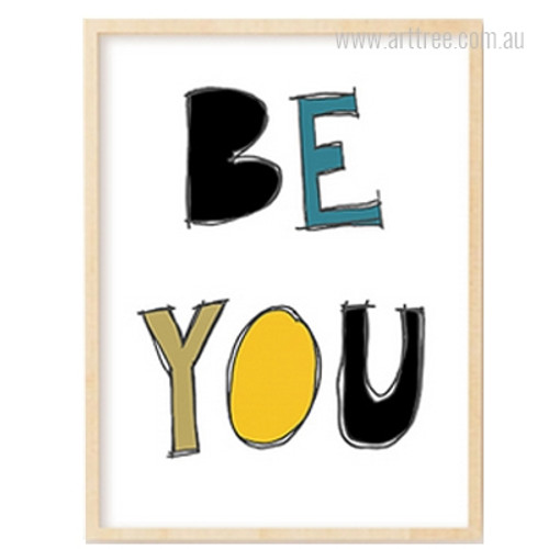 Colorful Be You Alphabets Children's Wall Art Print