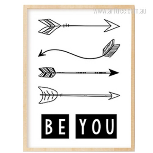 Be You Alphabets Arrows Boy Girl Wall Art