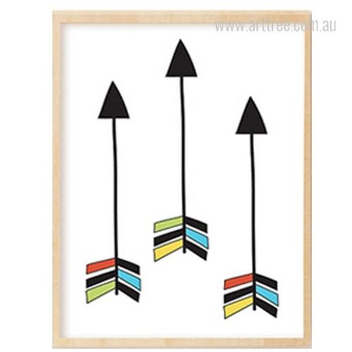 Three Arrows Print Kids Wall Art