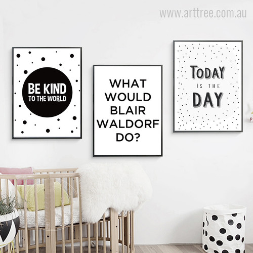 Be Kind to The World Blair Today Quote Canvas Prints