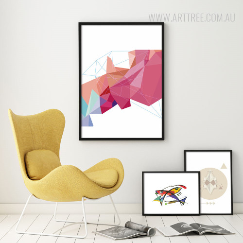 Modern-Geometric-Traingles-Fishes-Large-Wall-Art