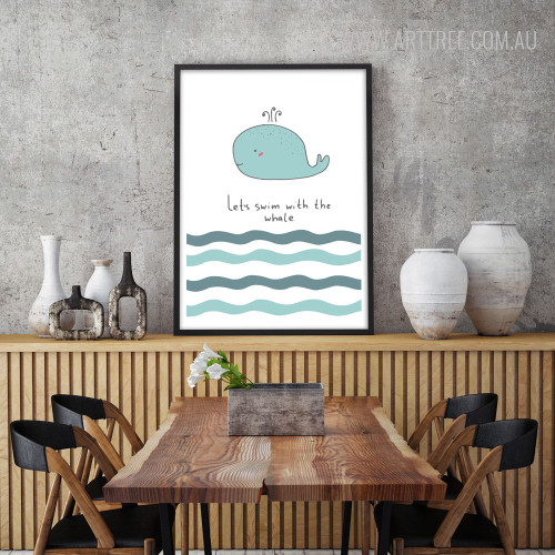 Lets Swim with the Whale Children Art
