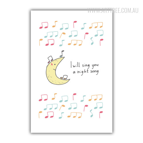 I Will Sing You A Night Song Art for Children's Rooms