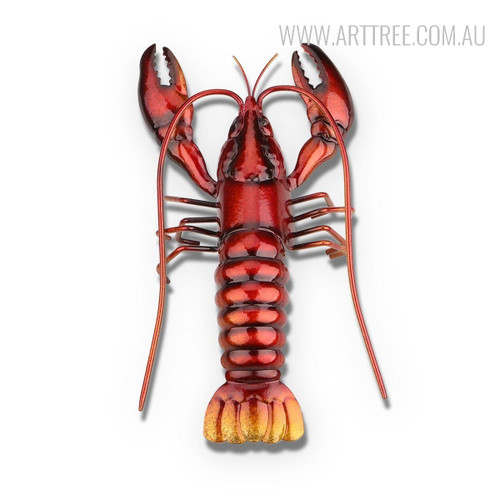 Sea Creature Lobster Metal Sculpture for Home Decor