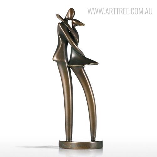 The Kiss Couple Fiberglass Sculpture