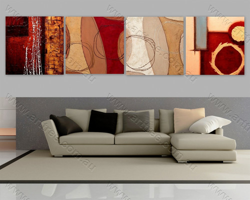 multi panel abstract painting