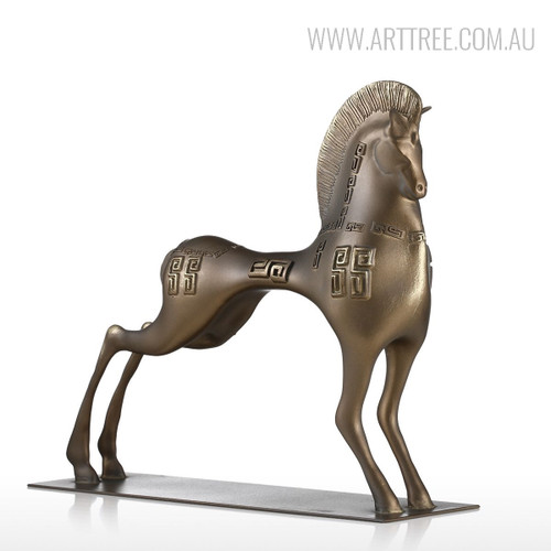 Vigorous Horse Statue Fiber Glass Sculpture