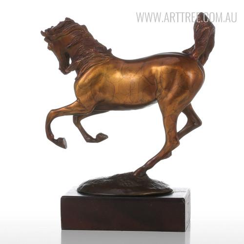 Running Horse Copper Metal Figurine Bronze Sculpture