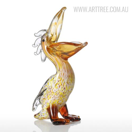 Cormorant Glass Sculpture Bird Statue