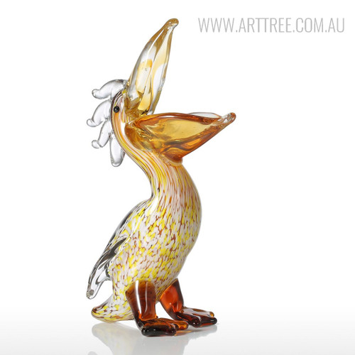 Cormorant Glass Sculpture Bird Statue