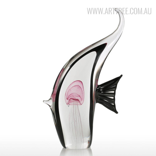 Moorish Idol Marine Fish Glass Statue