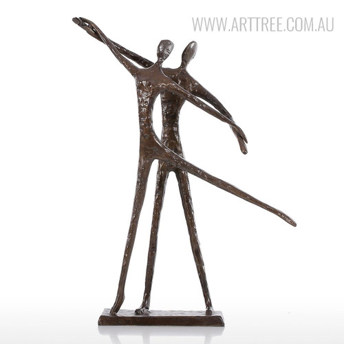 Dancing Couple Bronze Sculpture Contemporary Statue