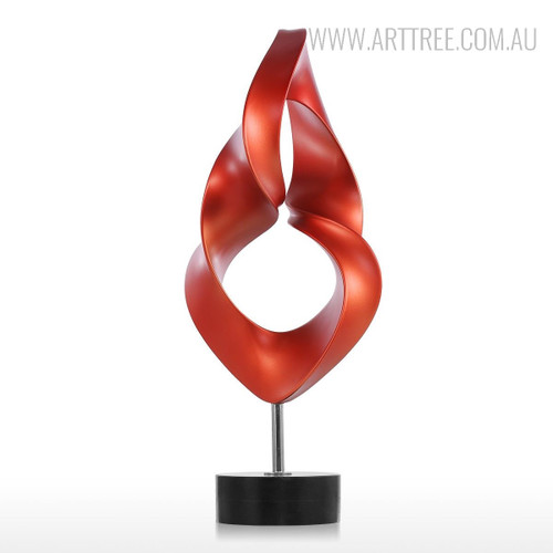 Red Abstract Eye Sculpture Contemporary Resin Art