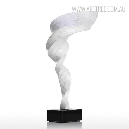 Tornado Style Resin Sculpture White Figurine