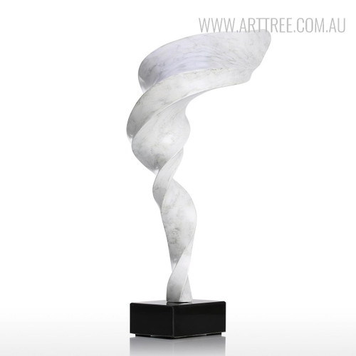 Tornado Style Resin Sculpture White Figurine