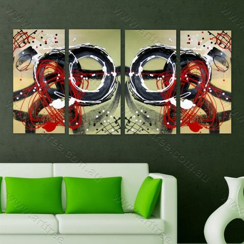 Heavy Textured multi panel canvas painting