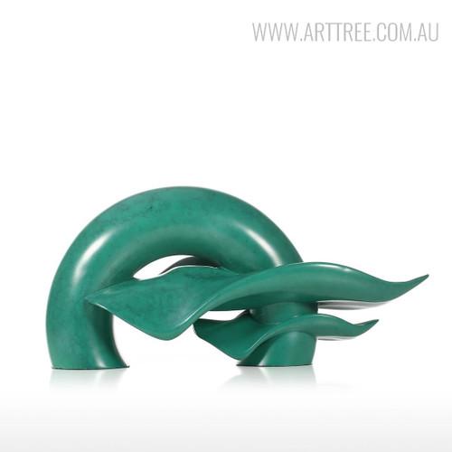 Abstract Ripple Wave Bronze Sculpture Modern Resin Art Figurine