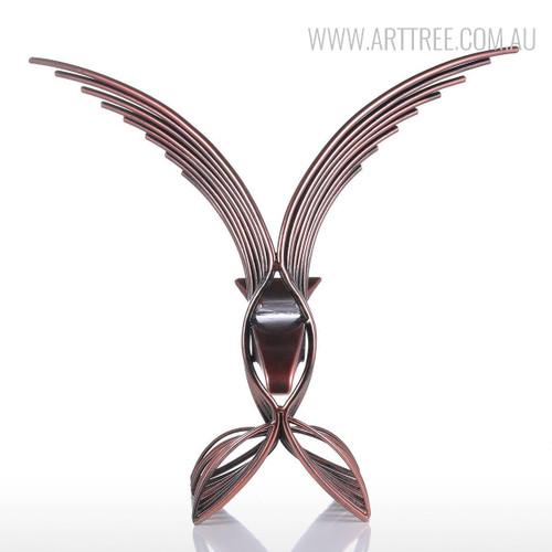 Eagle Iron Metal Sculpture Wild Hawk Bird Statue